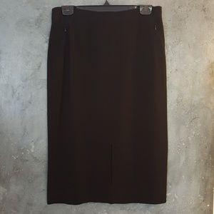 NWT Classiques Entier Black Pencil Skirt